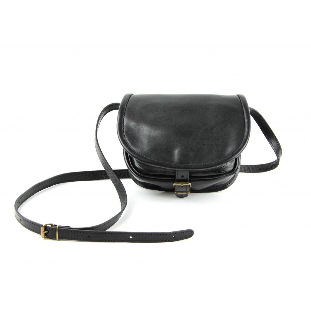Kožená lovecká kabelka, 12012 černá