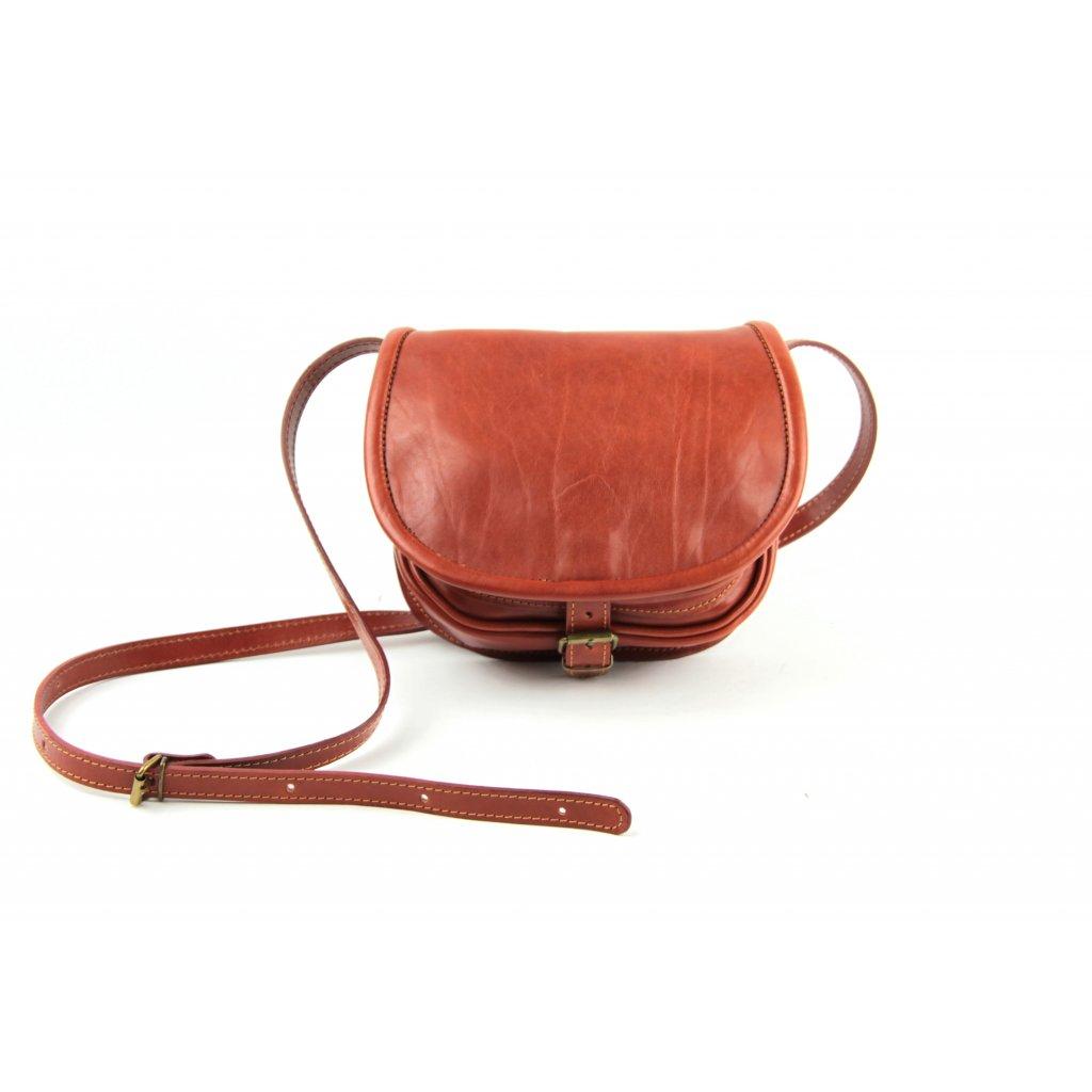 Kožená lovecká kabelka, 12052 koňak