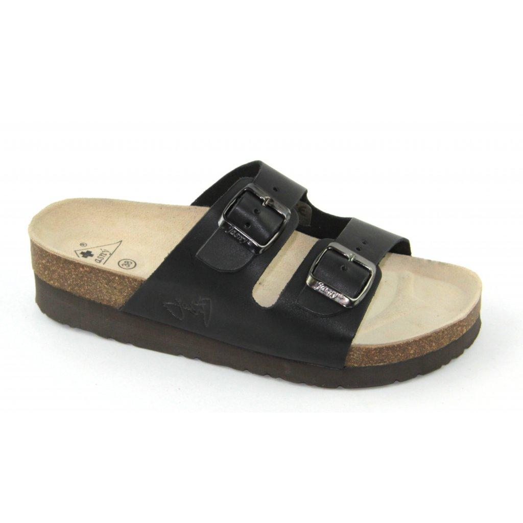 pantofle na klínku 2002/PK2 černé (Velikost Vel. 41)
