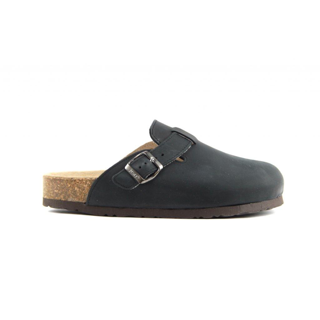 pantofle s plnou špičkou 2002/TRENTO černé (Velikost Vel. 47)