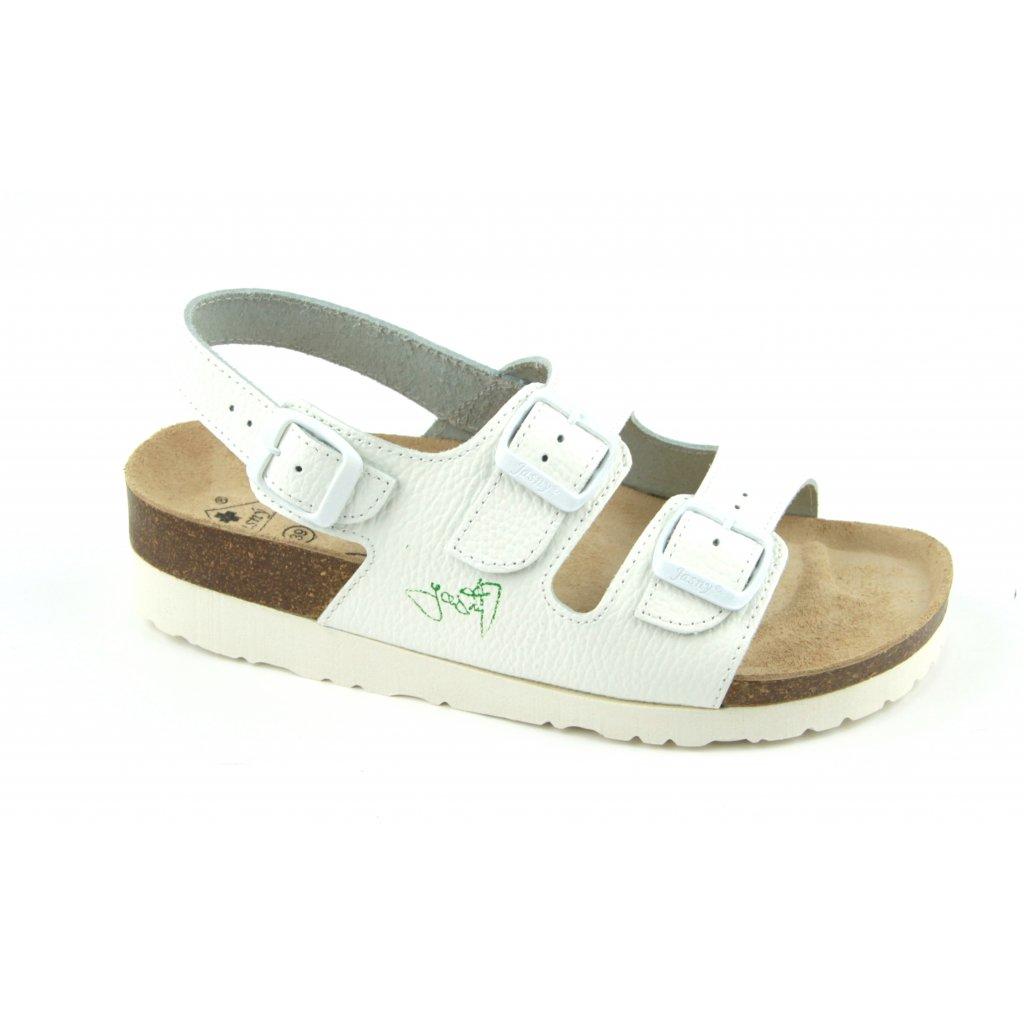 sandály na klínku 2002B/SK2 bílá (Velikost Vel. 42)