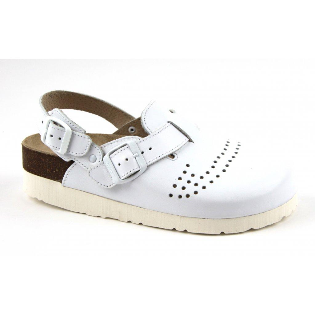 sandály s plnou špičkou 2002BP/SK trento bílé (Velikost Vel. 36)