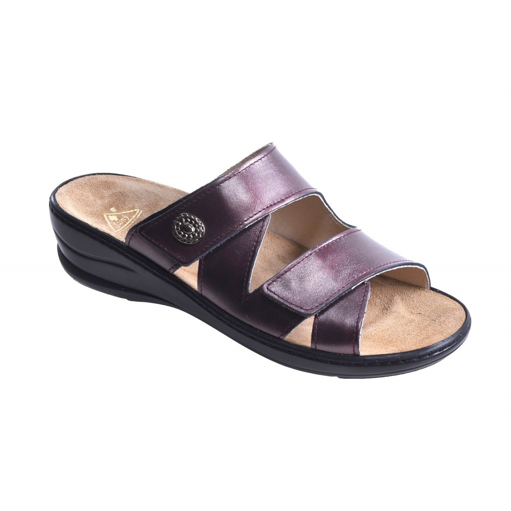 Pantofle MC-SAMANTHA Queen fialové