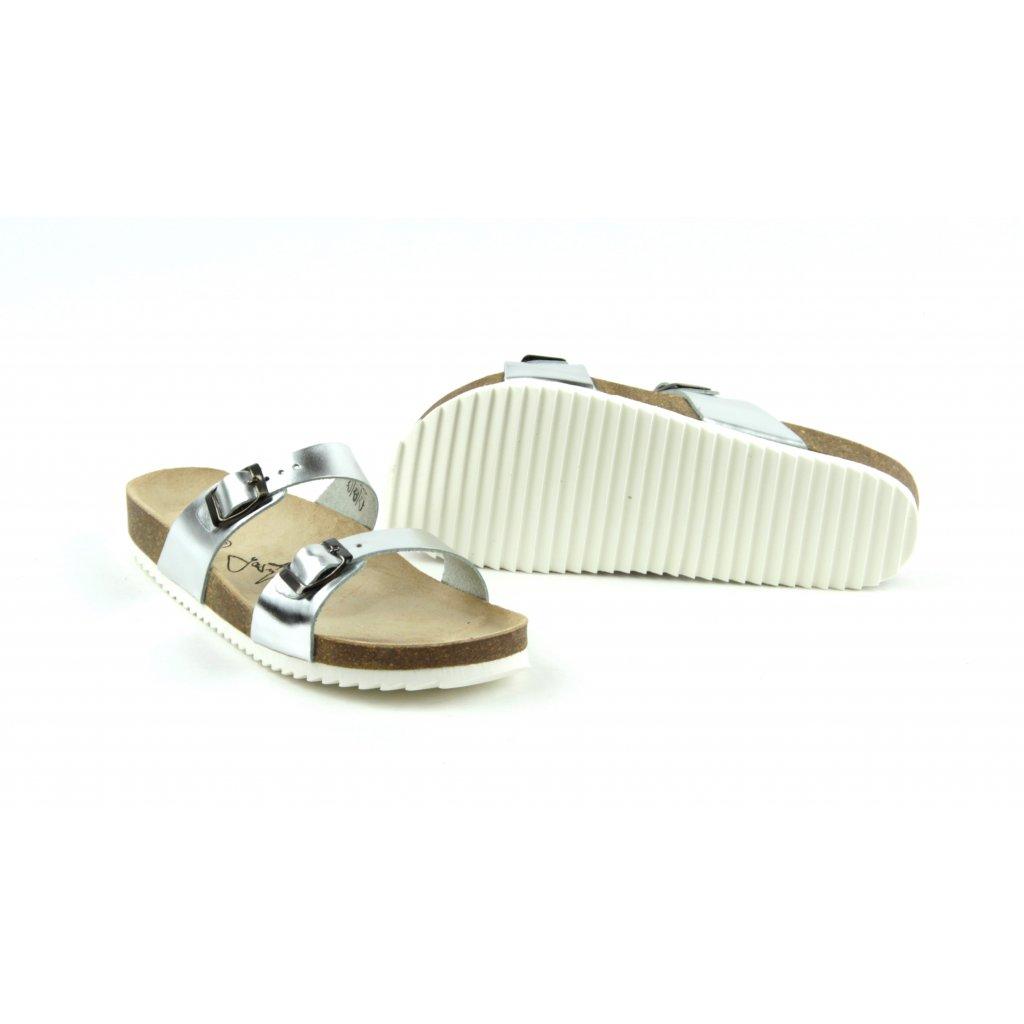 Pantofle M1 silver, 2002-M1-30