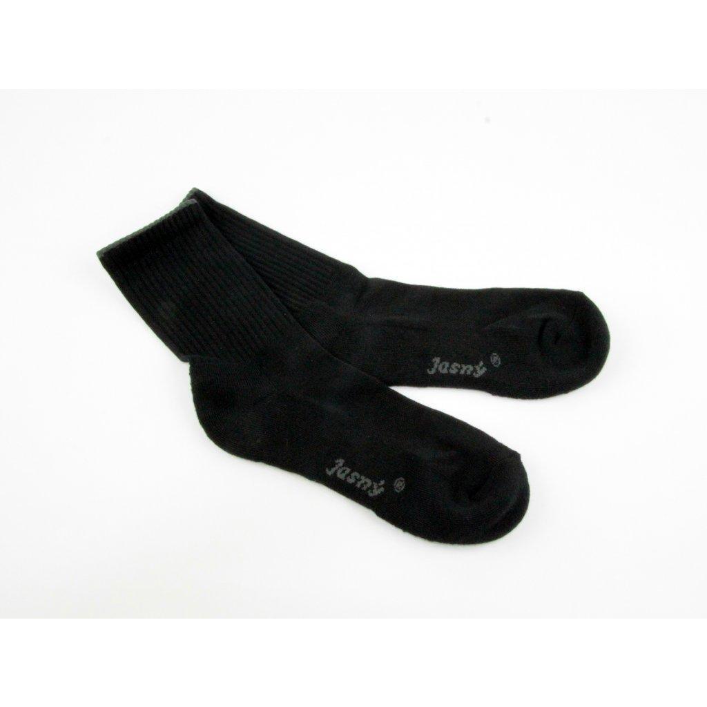 ponožky PLUTO, zesílené chodidlo-černé (Velikost 43-46)