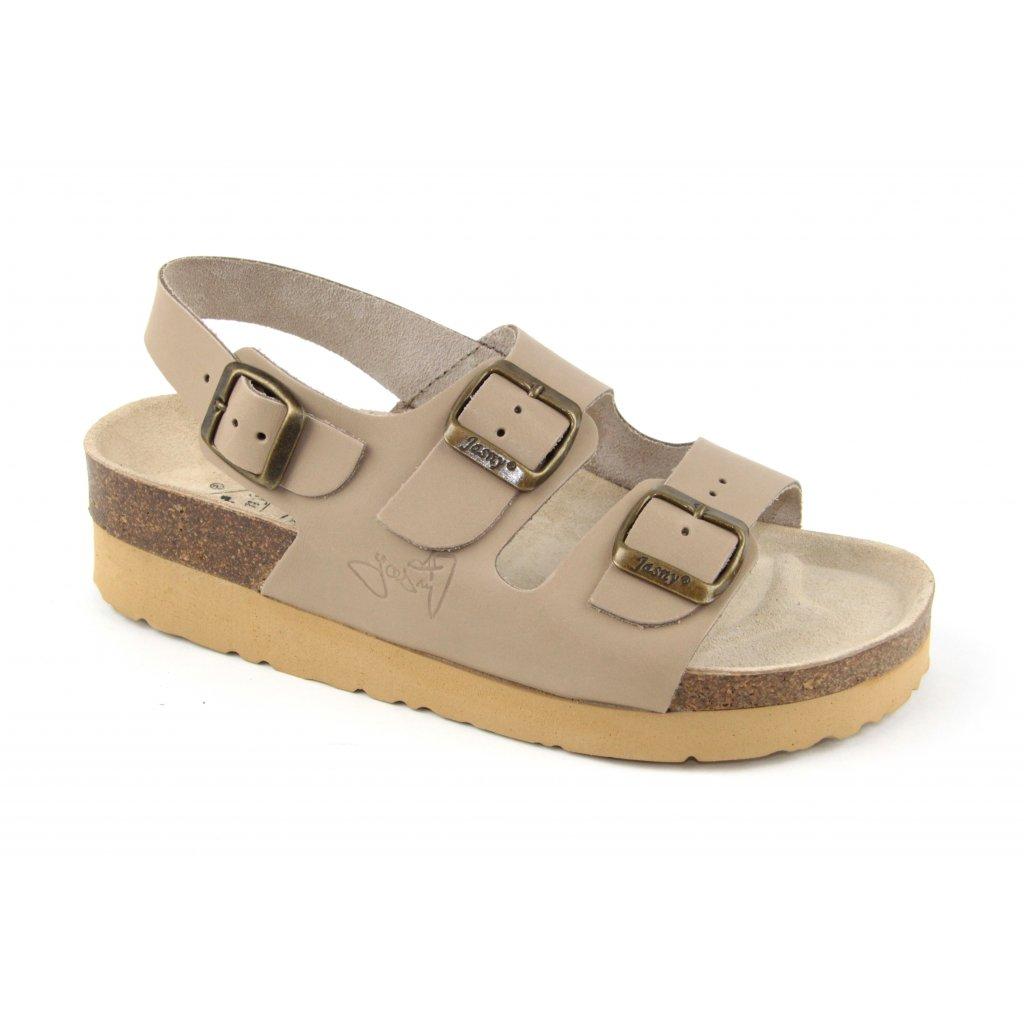 sandály na klínku 2002/SK2 béžové (Velikost Vel. 41)