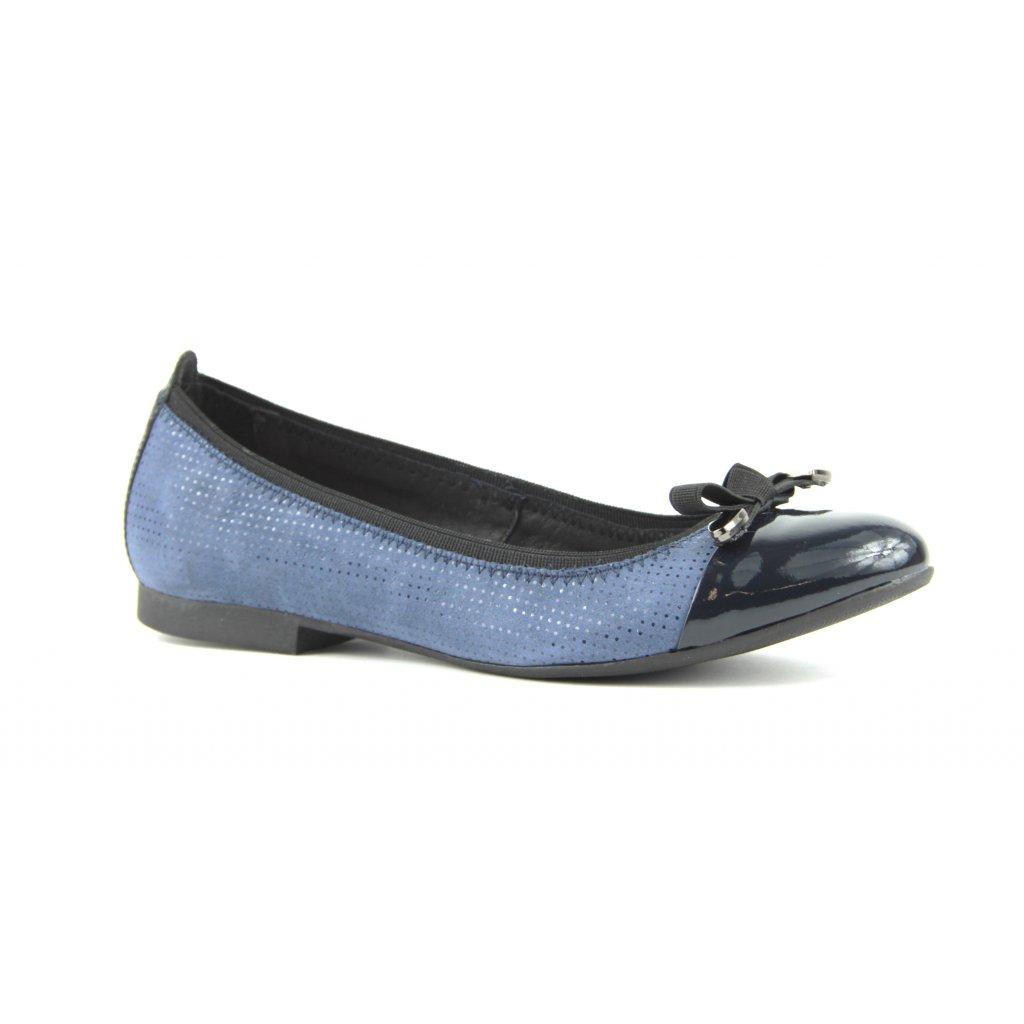 obuv balerínky 2513 granát (Velikost Vel. 41)