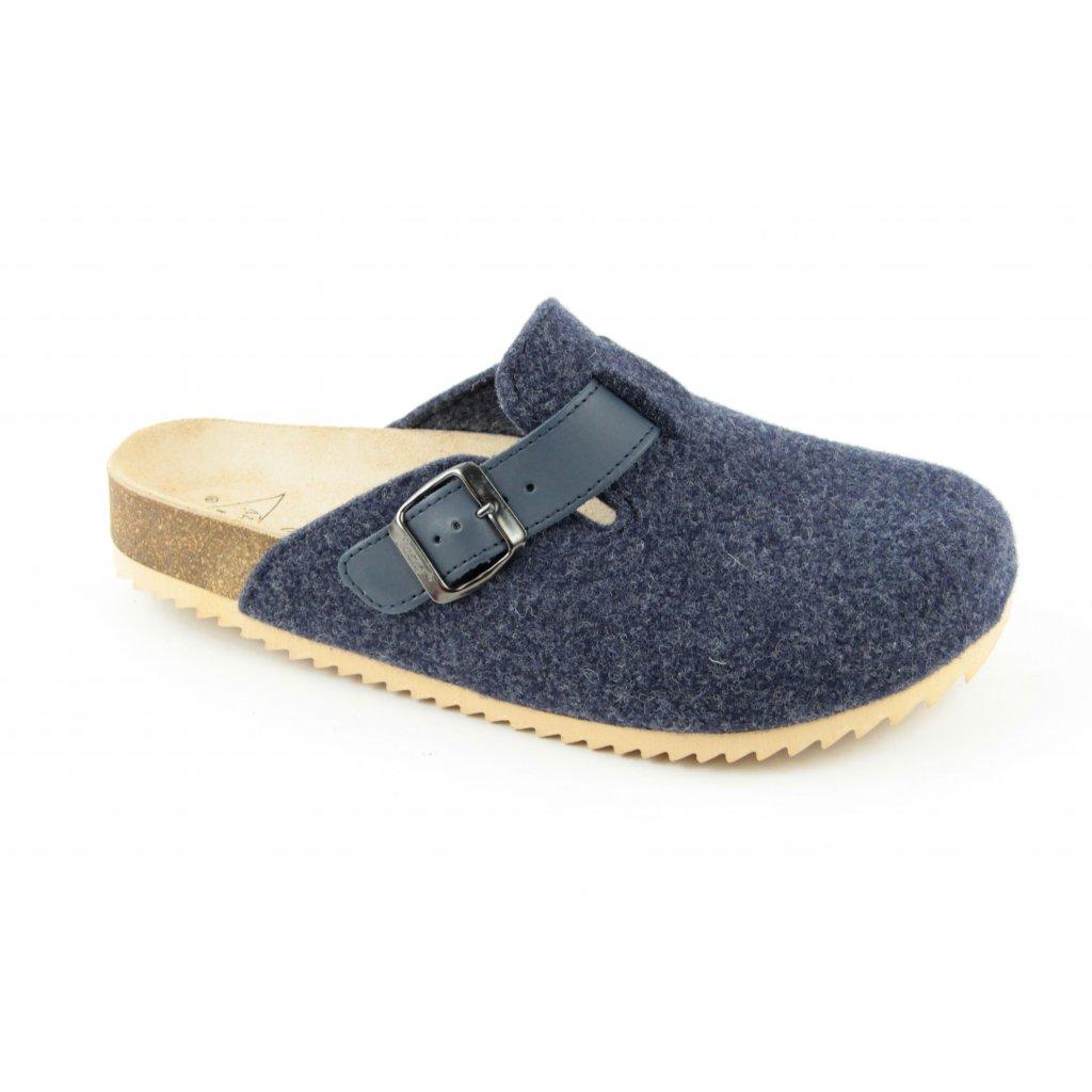 pantofle s plnou špičkou TRENTO FURRY modré (Velikost Vel. 47)