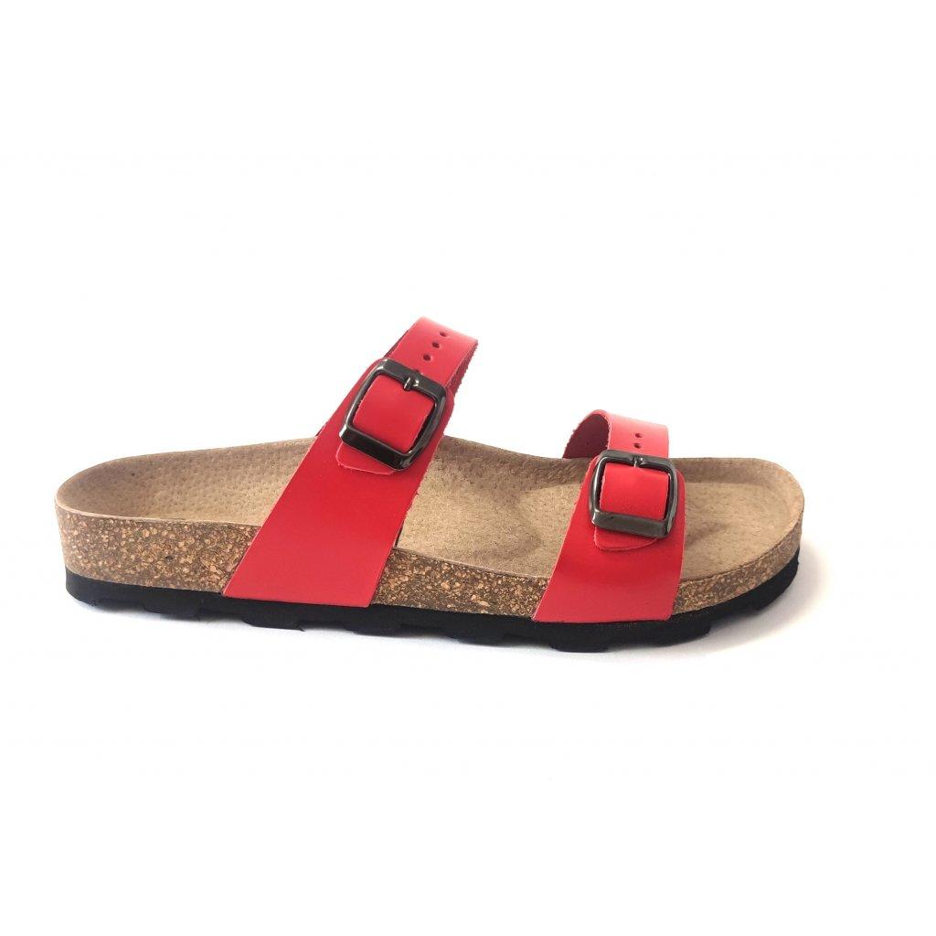 pantofle 2002/M1 červené (Velikost Vel. 41)
