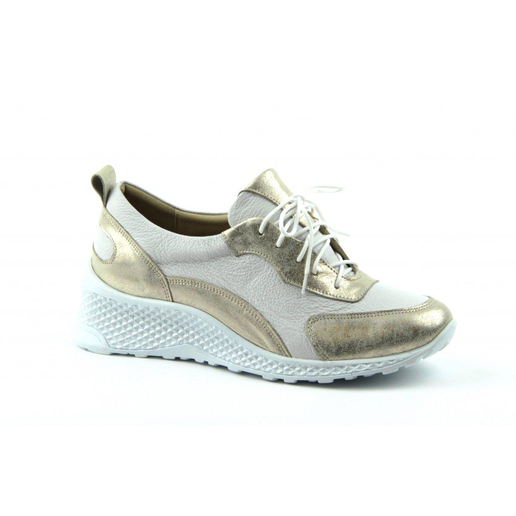 Dámská obuv W-2006 bílozlatá