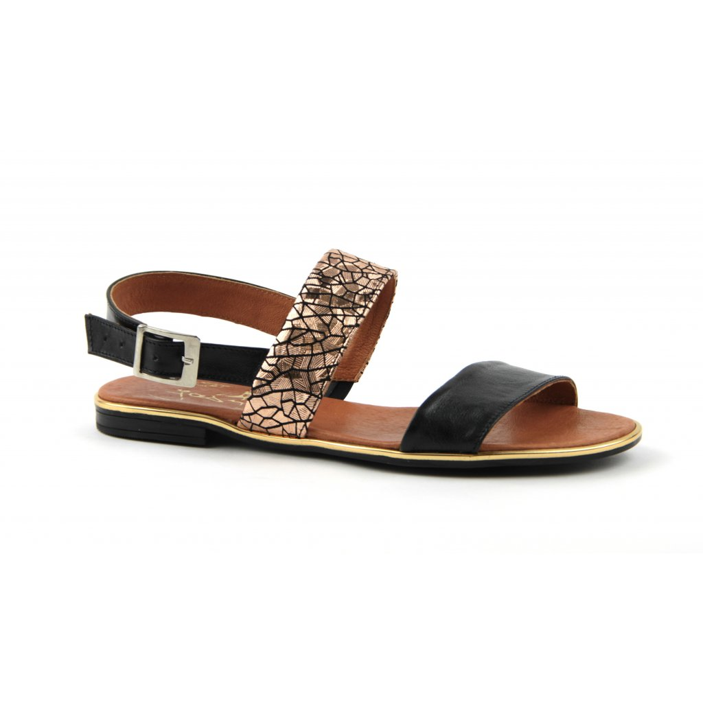 Sandály W-1095, zlatočerné