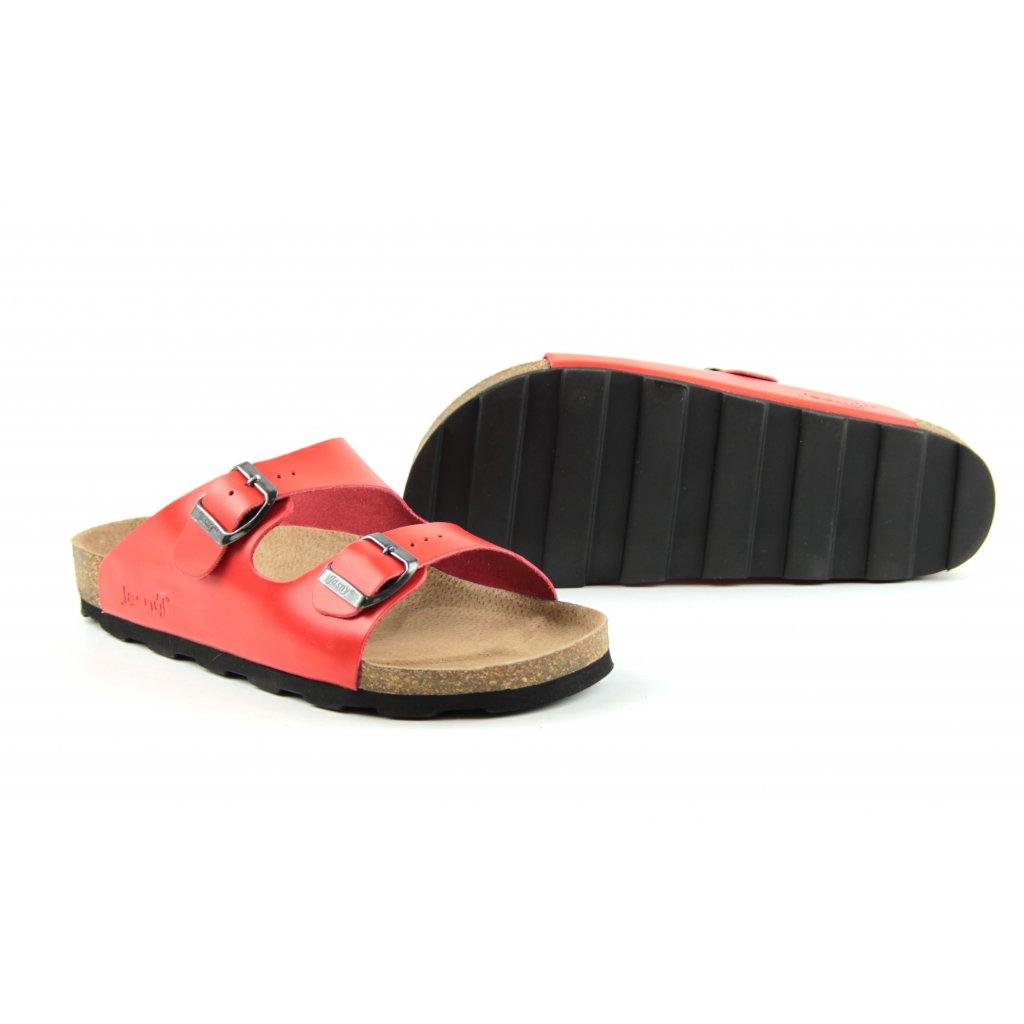 Pantofle LUCCA červené, 2002-L-21