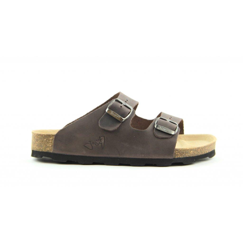 Pantofle LUCCA hnědé, 2002-L-22