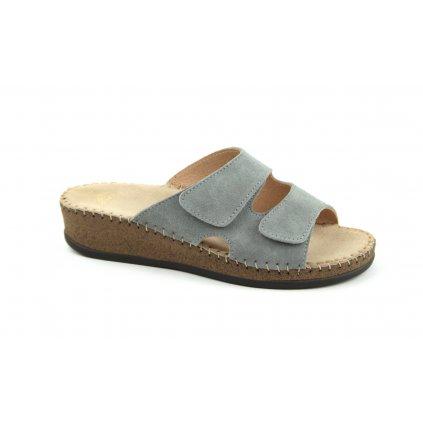 Pantofle EMANUELLE šedé, RŠJ 473