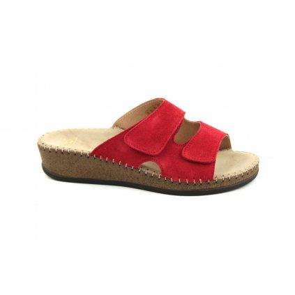 Pantofle EMANUELLE červené, RŠJ 473