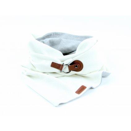 šátek se zapínáním whitetaupe1 1