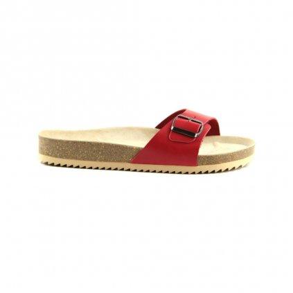 jednopáskové pantofle 2002/VERONA červené (Velikost Vel. 41)