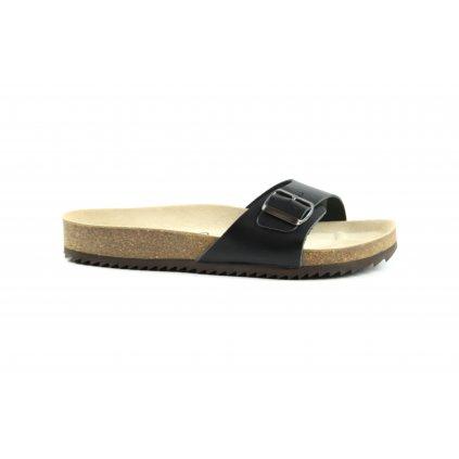 jednopáskové pantofle 2002/VERONA černé (Velikost Vel. 41)