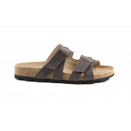 Pantofle RAVENNA hnědé, 2002-R-22