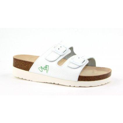 pantofle na klínku 2002B/PK2 bílá (Velikost Vel. 42)