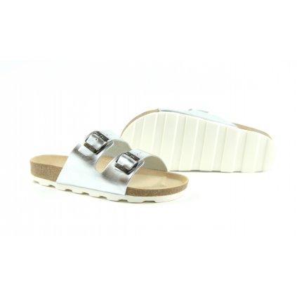 Pantofle CLASSIC silver, 2002-PR2-30