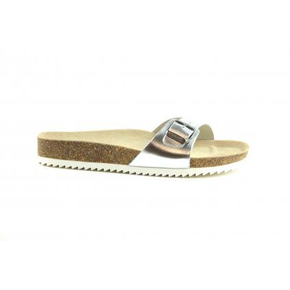 Pantofle VERONA silver, 2002-V-30