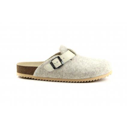 pantofle s plnou špičkou TRENTO FURRY šedé (Velikost Vel. 42)