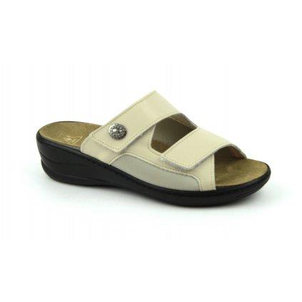 Pantofle MC-HALLUX béžové