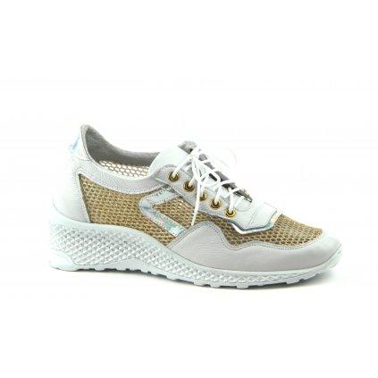 Dámská obuv W-2016 bílozlatá