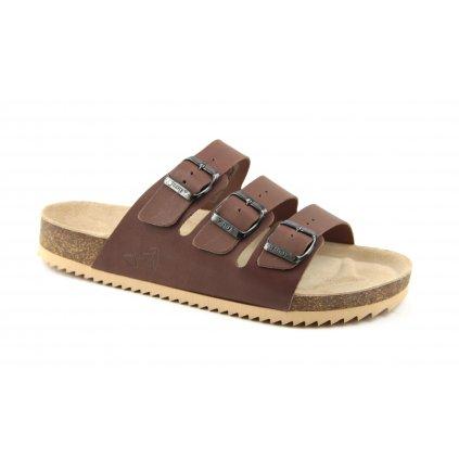 Pantofle CLASSIC hnědé, 2002-PR3-6
