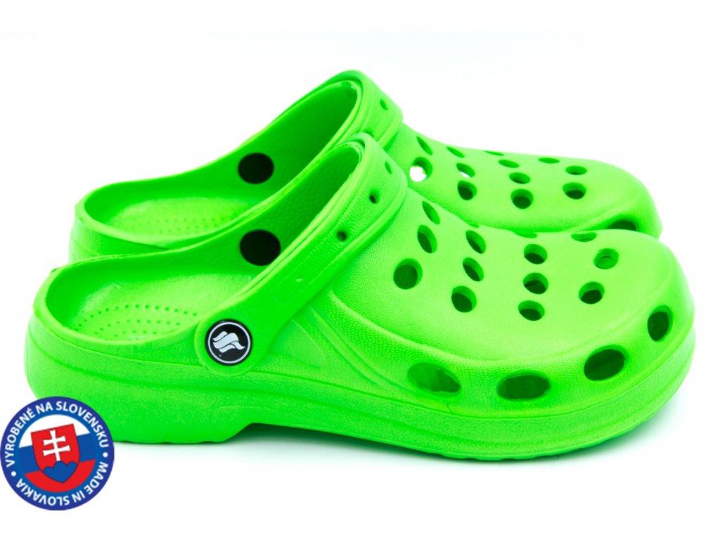 Dámské clogsy FLAMEshoes A-002 zelená