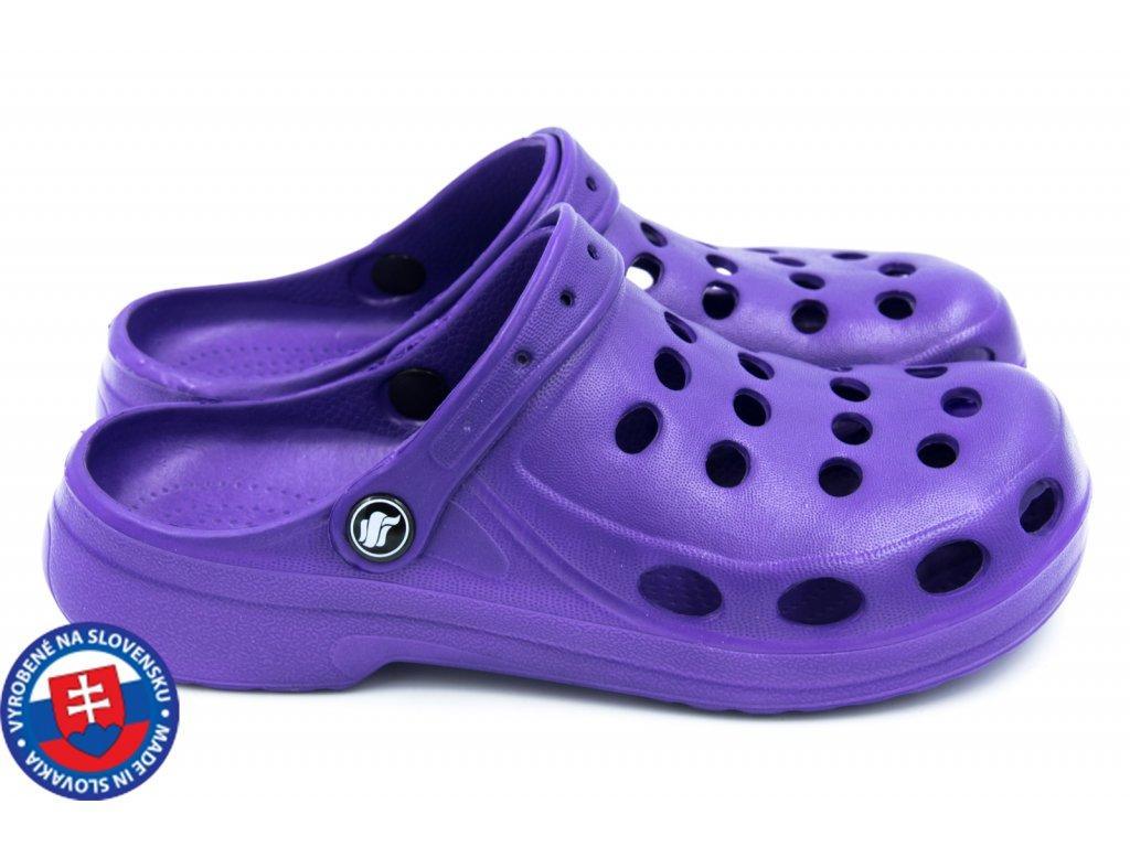 Dámské clogsy FLAMEshoes A-002 fialová