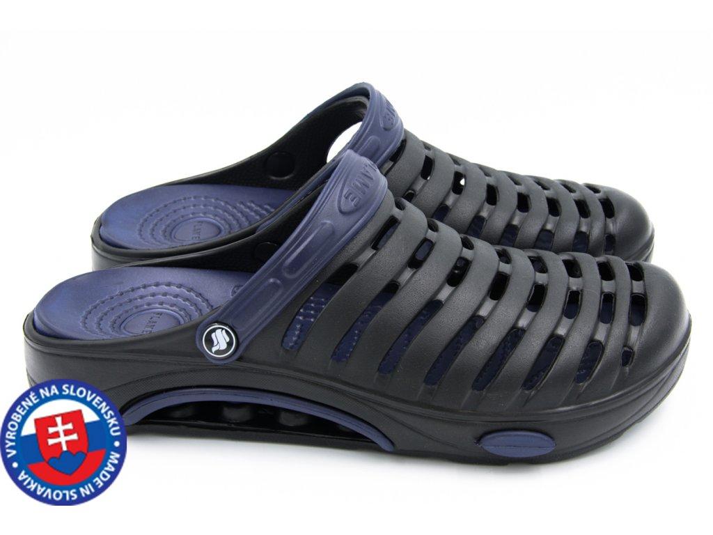Pánské clogsy FLAMEshoes A-1003 černá/tmavě modrá