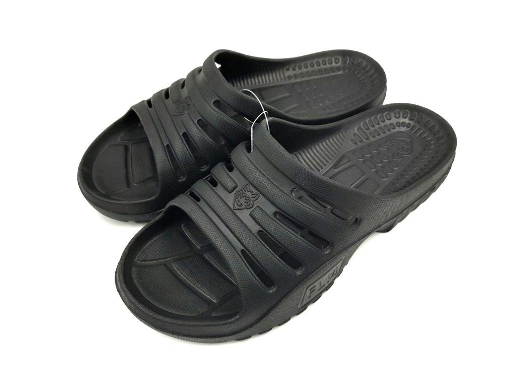 Pánské pantofle FLAMEshoes F-9006 černá