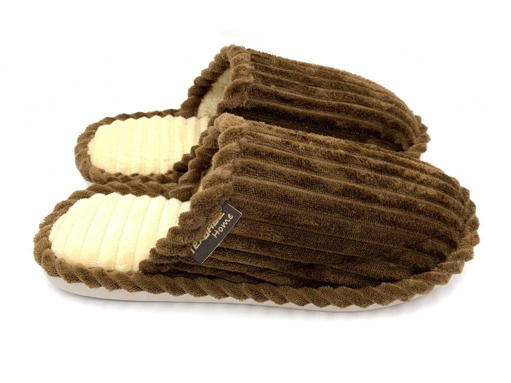 papuce panske hnede