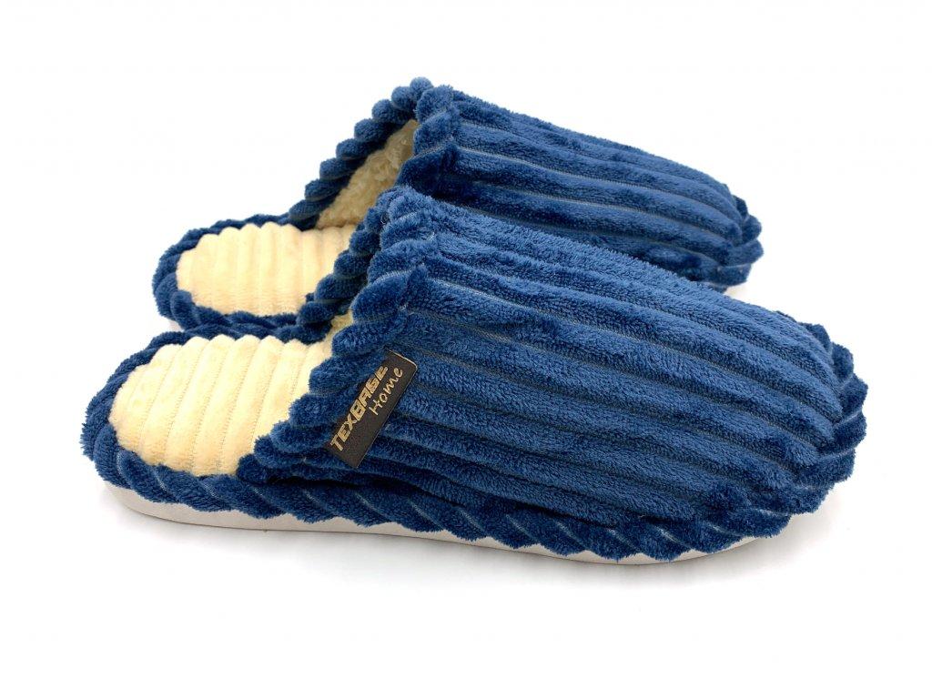 papuce panske modre
