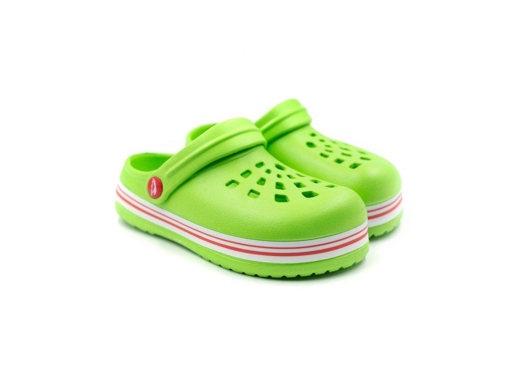 Dětské clogsy TexBase TXB-01 limetkově zelené