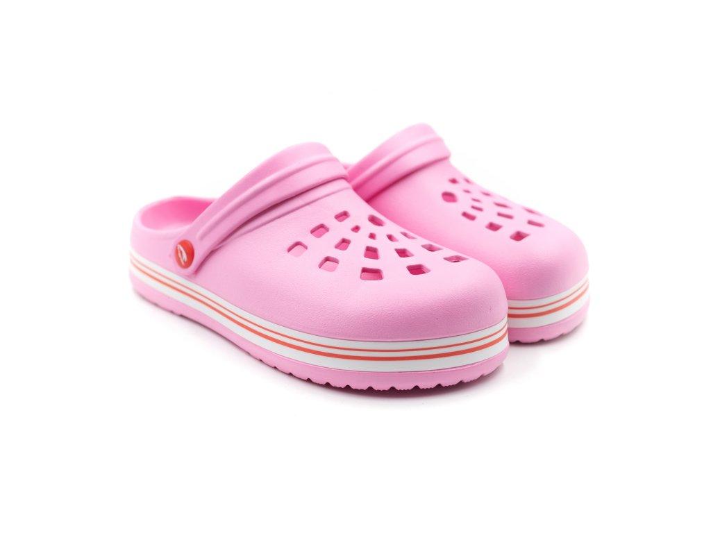 Dětské clogsy TexBase TXB-02 růžové