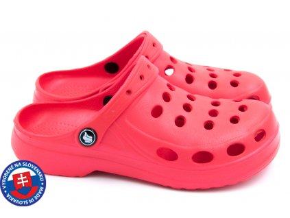 Dámské clogsy FLAMEshoes A-002 červená