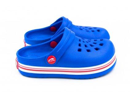 detske pantofle clogsy modre