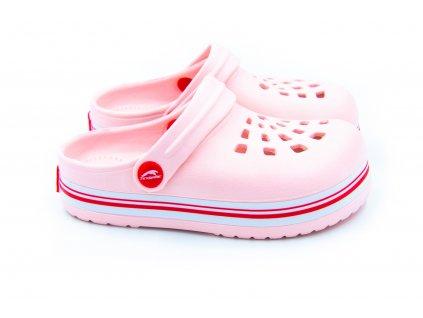 detske pantofle clogsy ruzove