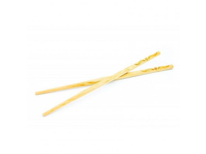 Ekologické vyřezávané bambusové jídelní hůlky 10 párů