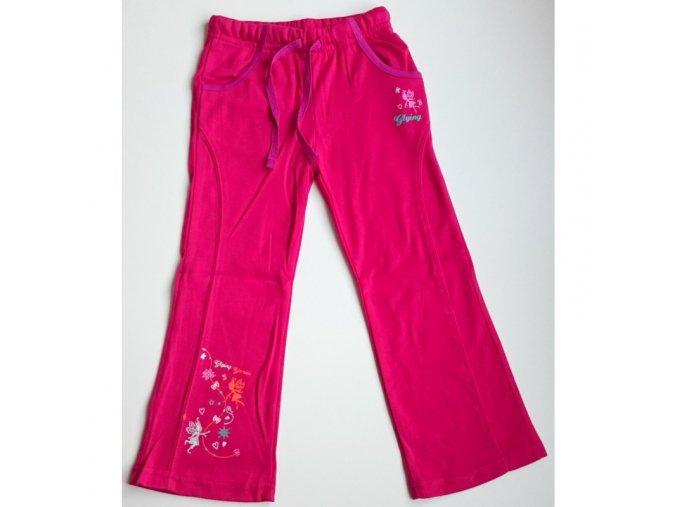 Dívčí tepláky Glying růžové - světle růžová víla