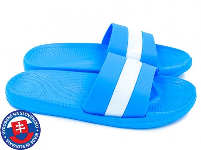 Dámské pantofle FLAMEshoes B-2013-1 modré