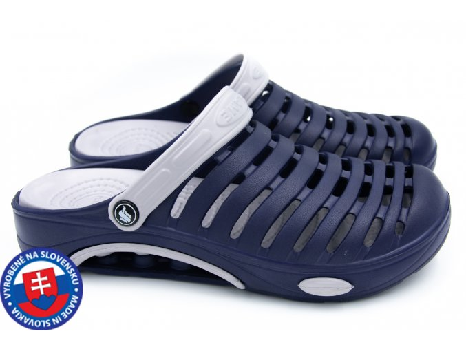 Pánské clogsy FLAMEshoes A-1003 modrá/šedá
