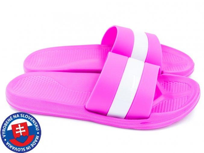 Dámské pantofle FLAMEshoes B-2013-1 růžové