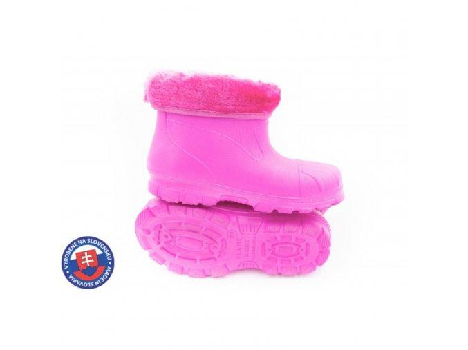 Dětské zateplené boty X-6005 FLAMEshoes růžové