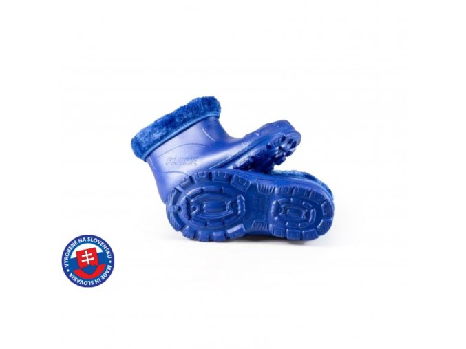 Dětské zateplené boty X-6005 FLAMEshoes modré