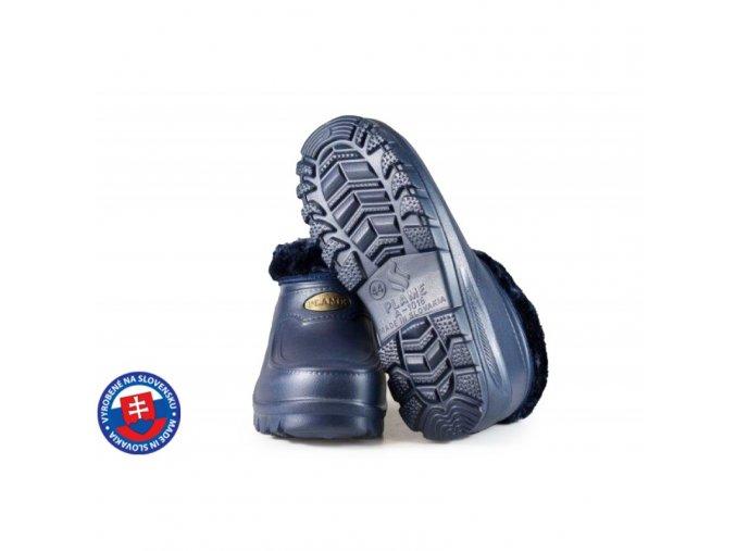 Pánské zateplené boty FLAMEshoes A-1016 tmavě modré