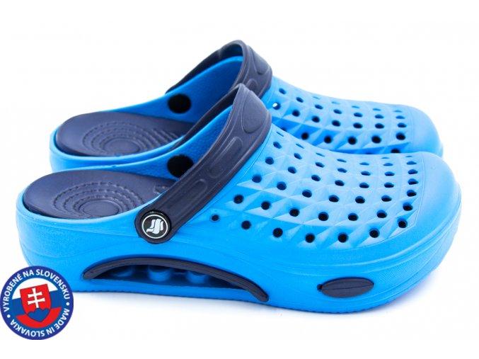 Dámské clogsy FLAMEshoes B-2006 modrá/tmavě modrá